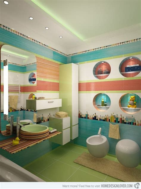 green kids bathroom colorful and funny kids bathrooms designs