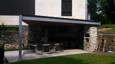 Ultra Modern Houston Outdoor Kitchen With Metal Roof   Modern   Patio   Houston   by Outdoor