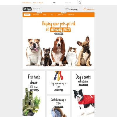 Pet Shop Templates Templatemonster Free Pet Store Website Templates