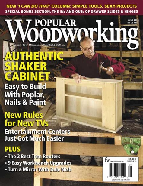 popular woodworking magazine 2006 issues of popular woodworking magazine