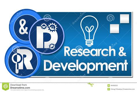 r d r and d research and development three circles stock