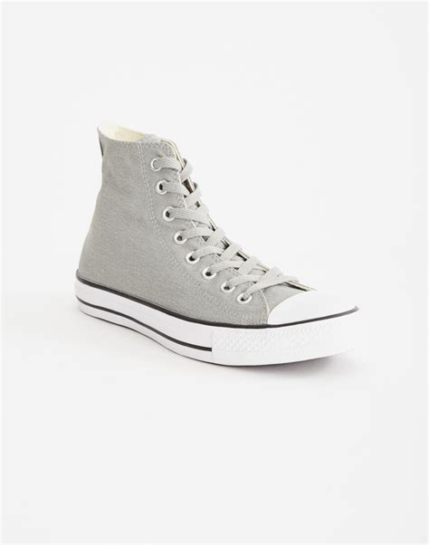 Converse Hi Gray converse chuck hi trainer grey black in gray for