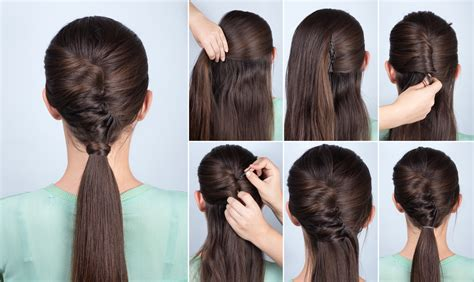 hairstyles design online simple hairstyle ponytail with twist hair yutorial step by