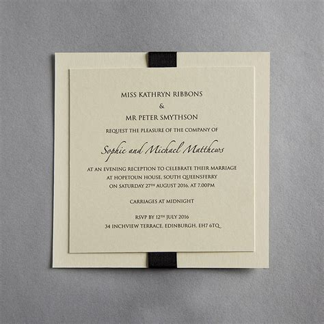 not on the high elegance wedding invitation elegance wedding invitation by twenty seven notonthehighstreet