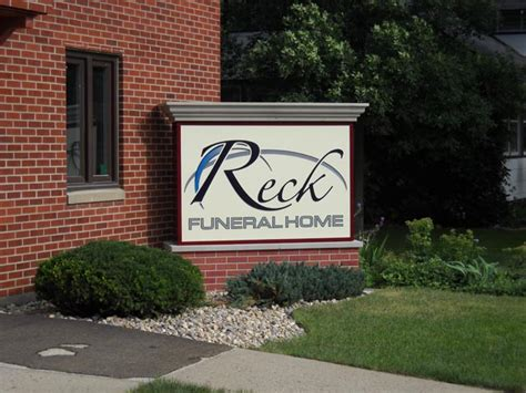 Reck Funeral Home signs by benchmark wholesale supplier of quality