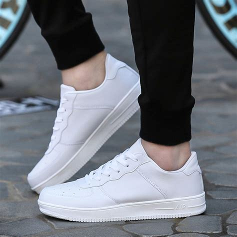 Sepatu Superstar Unisex White superstar walking air all white casual bottom shoes