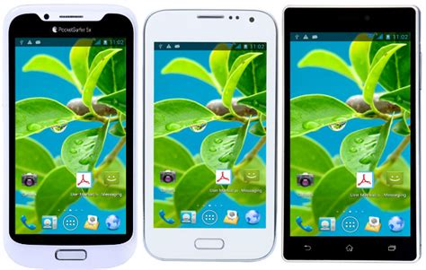 datawind pocketsurfer 5x 5 and 3g5 smartphones with 5