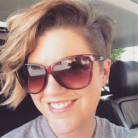 side shaved hair round face 40 cute looks with short hairstyles for round faces