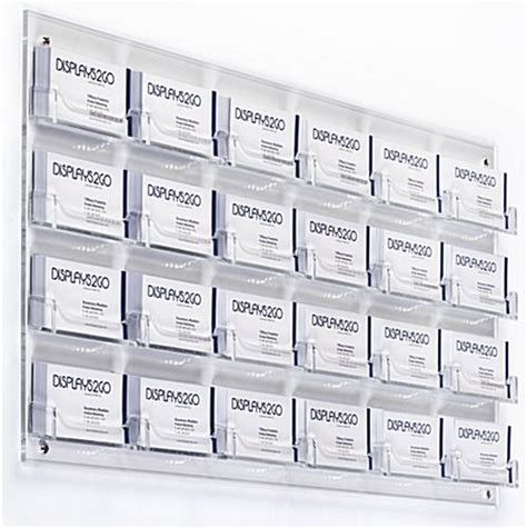 business card organizer template acrylic business card holder clear 24 pocket wall business