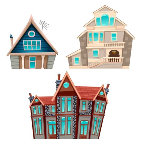 free cartoon house pictures free download house three cartoon houses vector free download