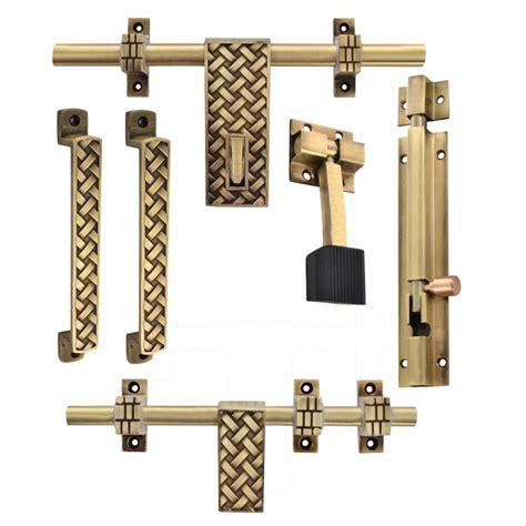 door kit brass lock klaxon glorious 2 brass door accessories kit antique