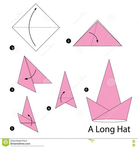 How To Make A Paper Longer - step by step how to make origami a hat