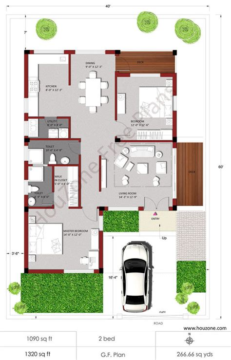 2bhk floor plan house plans for 2bhk house houzone