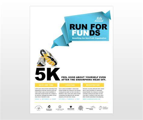 running flyer template charity non profit fundraiser run flyer template