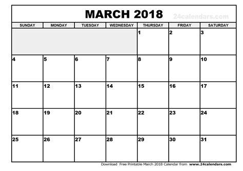 march 2018 calendar printable blank calendar printable