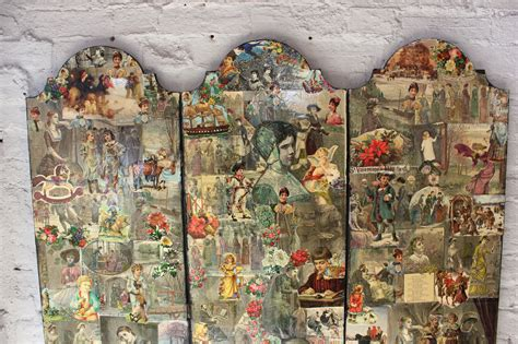 a fabulous c 1950s vintage decoupage scrap three fold