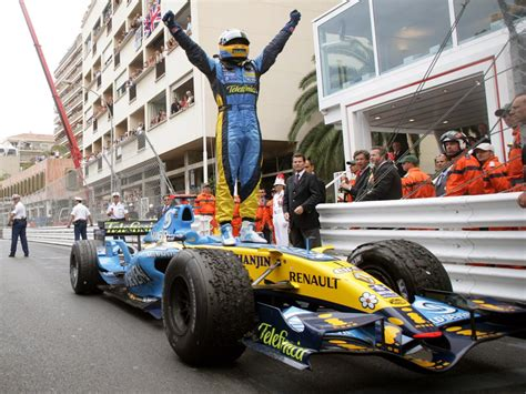 renault f1 alonso alonso grabs monaco win as schumacher recovers to fifth
