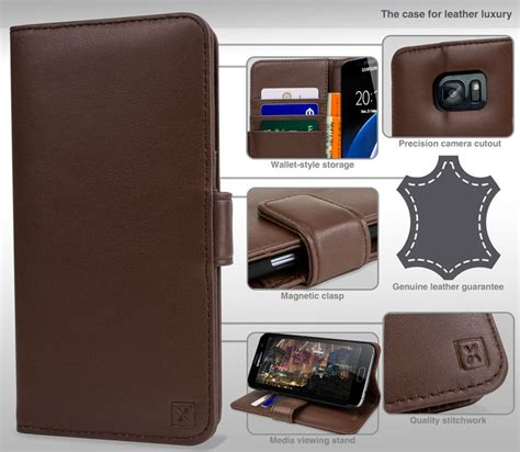 Samsung Galaxy S7 Edge Premium Casing Backcase Look Leather Tpu olixar genuine leather samsung galaxy s7 edge wallet
