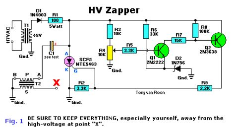 high voltage capacitor discharge circuit high voltage zappers