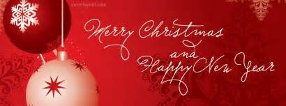 Merry christmas happy new year red fb cover merry christmas happy new