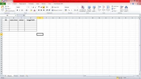 cara membuat database dengan excel cara membuat form input dan database dengan macro vba di excel