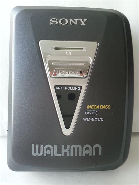 walkman cassette player sony walkman stereo cassette player wm ex170 cassette