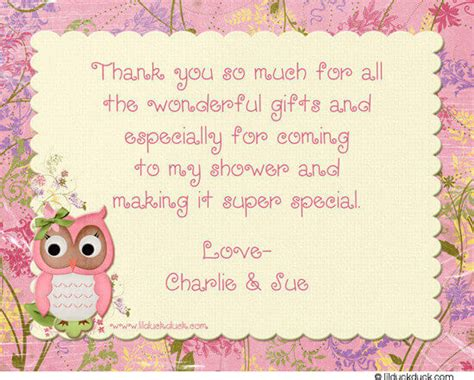 Thank You Card Sayings For Baby Shower Gifts - how to decide appropriate baby shower thank you card message baby shower ideas
