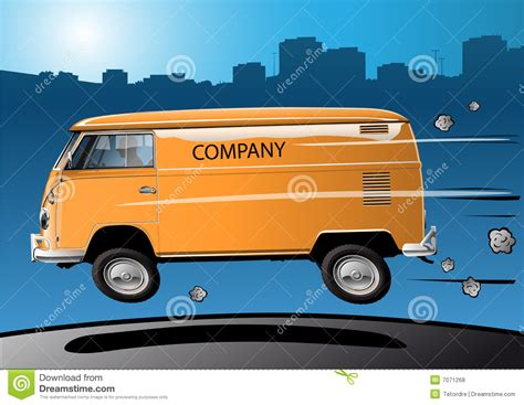 Fast Volkswagen by Fast Volkswagen Transporter Royalty Free Stock Photos