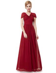 Ever pretty elegant red long bridesmaid christmas formal party dresses