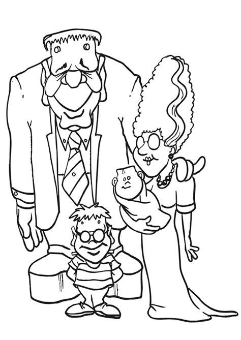 Coloriage famille monstres sur Hugolescargot.com