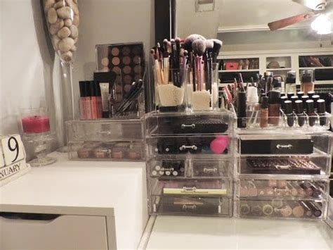kim kardashian makeup organizer in her bathroom my vanity acrylic storage