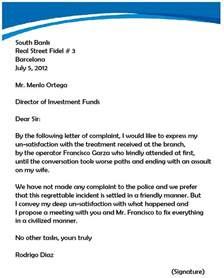 boss complaint letter archives sample letter