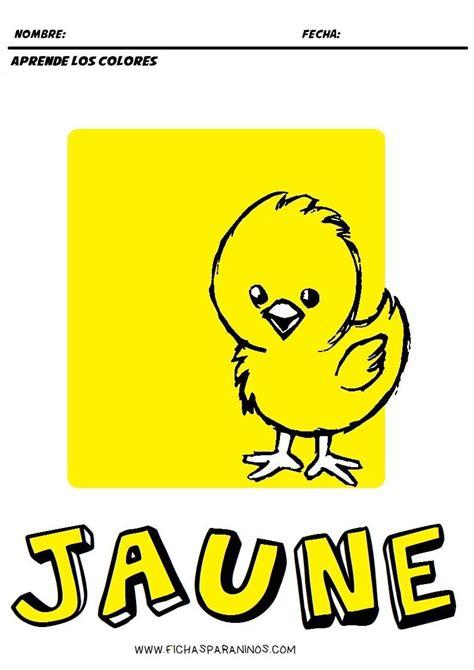 frances para ninos contar 1973743817 fichas para aprender los colores en frances para ni 241 os de infantil y primaria jaune amarillo