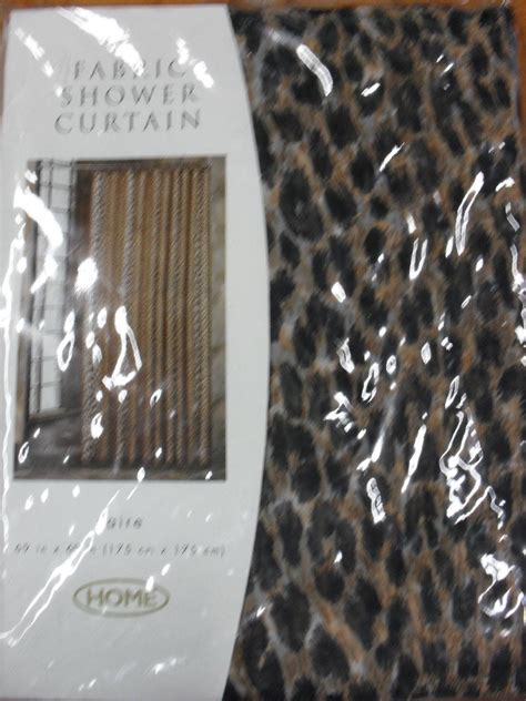 cheetah print shower curtain home leopard print shower curtain