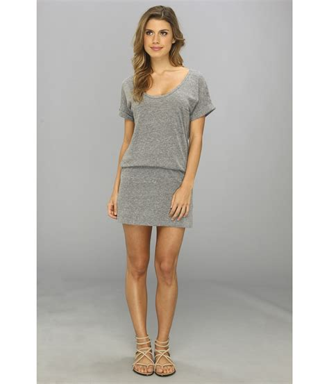 Ss Dress Tri c c california ss grey triblend blouson dress in