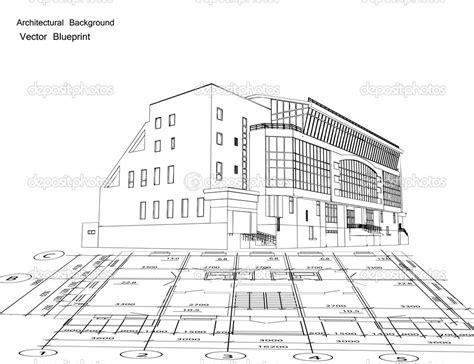 new house blueprints 8 vector architecture blueprints images free vector