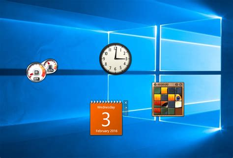 Desk Top Gadgets by How To Bring Back Desktop Gadgets To Windows 10