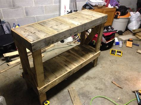 Sofa Table Built From An Old Pallet Pallet Pallet Who Pallet Sofa Table