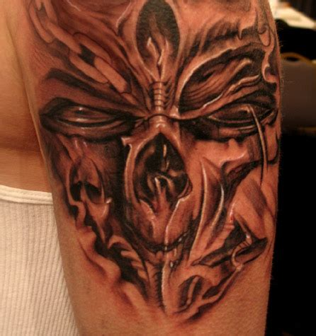 sick skull tattoo designs flower designs ideas mask belly button