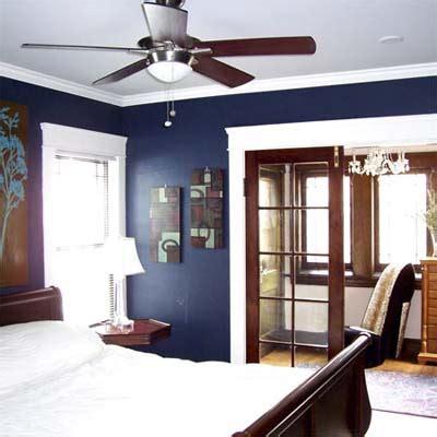 gamble  deep blue walls   bedroom