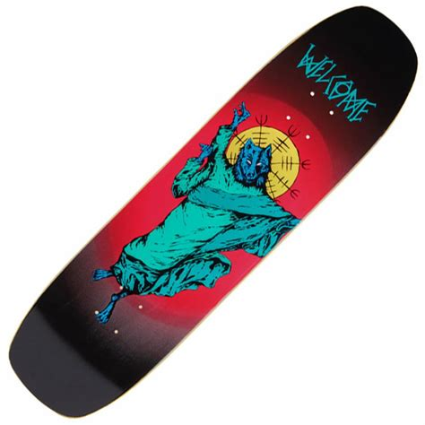 deck skateboard welcome skateboards wolfgod on wormtail skateboard deck 8