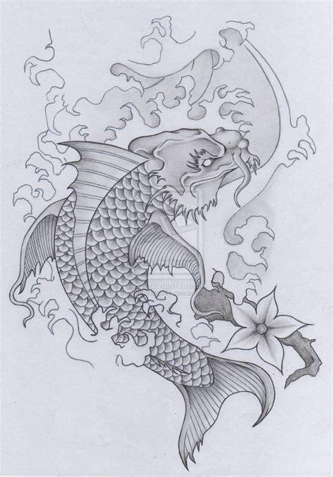 japanese koi dragon tattoo designs japanese koi skull samurai pt 2 by