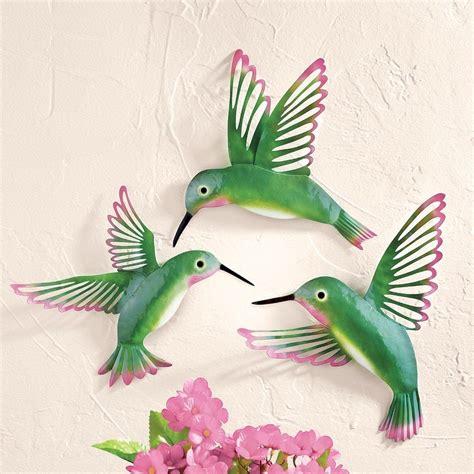 Hummingbird Home Decor Set Of 3 3d Hummingbird Wall Decor Bathroom Kitchen Home Decor New Ebay