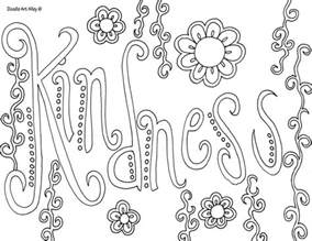 acts of kindness coloring pages coloring pages - Kindness Coloring Pages