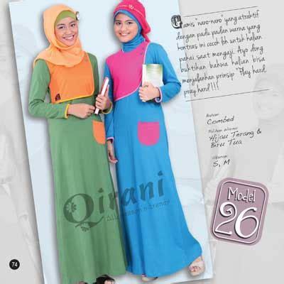 Baju Muslim Qirani qirani all season s trendy busana muslim remaja berbahan kaos