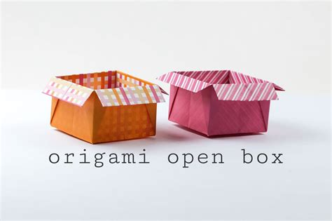 Origami In The Box - origami open box with flaps tutorial