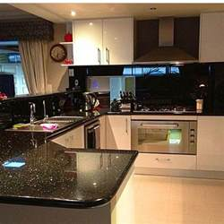 black splash kitchen my kitchen black galaxy granite sparkly black glass