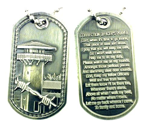 Officers Prayer by Correction Officer S Prayer Brushed Steel Tag