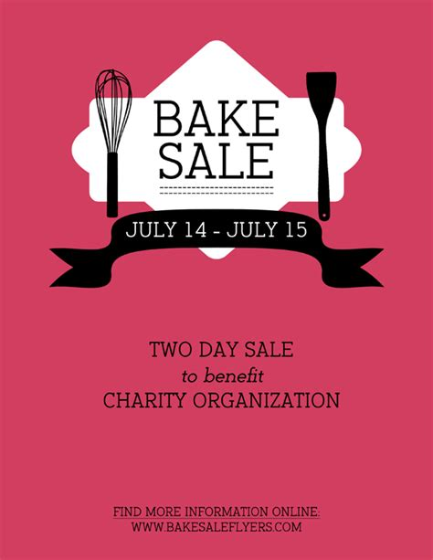 Bake Sale Flyers Free Flyer Designs Bake Sale Flyer Template