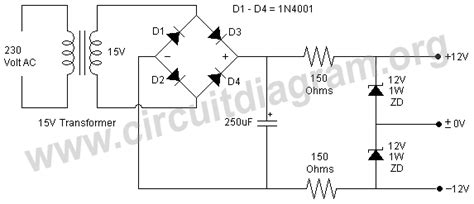dual power supply circuit diagram ac dc transformer schematic ac get free image about